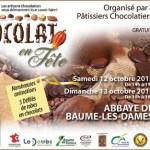Chocolat en Fête, à Baume-les-Dames, les 12 et 13 octobre 2013.