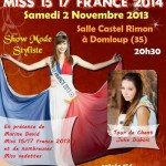 Election Miss 15/17 France 2014, le 2 Novembre 2013.