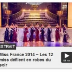 Demi-Finale de l'élection Miss France 2014 : Les 12 Miss défilent en robes du créateur Eric Tibusch.