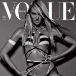Candice Swanepoel en couverture de Vogue Brésil pour Janvier 2014.