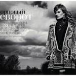 Retour en 2012 : Constance Jablonski, par Patrick Demarchelier pour VOGUE Russia.