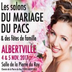 Salon du Mariage, du Pacs et des Fêtes de Famille, à Alberville, les 4 et 5 Novembre 2017.