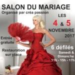 Salon du Mariage, à Evreux, les 4 et 5 Novembre 2017.